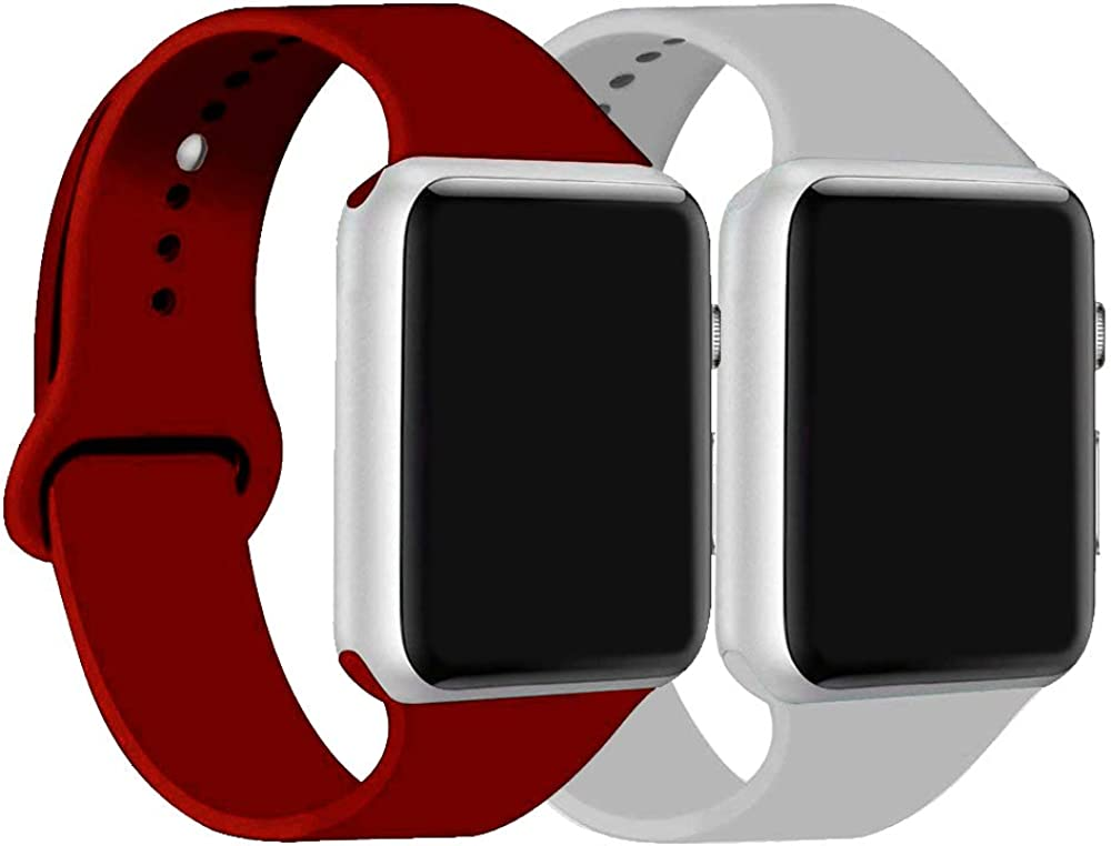 ic6Space Band Compatible for Apple Watch 38mm 42mm 40mm 44mm, Soft Silicone Sports Replacement Band for iWatch Series SE 6 5 4 3 2 1