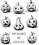 Stampers Anonymous Pumkinhead Tim Holtz Cling Stamps, 7'' x 8.5''