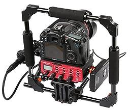 Saramonic SR-AX104 2 Channel XLR Audio Adapter with Phantom Power & Monitor (Red / Black)