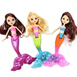 Mermaid Doll Toy for Girls, Swim in the Water at Bath Time, the Pool, and Beach , 1 Piece