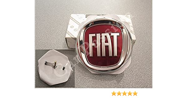 Escudo delantero logo Fiat Punto Evo/Punto My, modelos desde 2012, friso original 85 mm: Amazon.es: Coche y moto