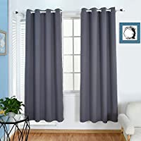 BOBLANCA Thermal Insulated Blackout Curtains Grommet Top...