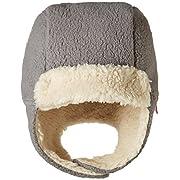 Zutano Baby Cozie Fleece Furry Hat, Gray, 6M