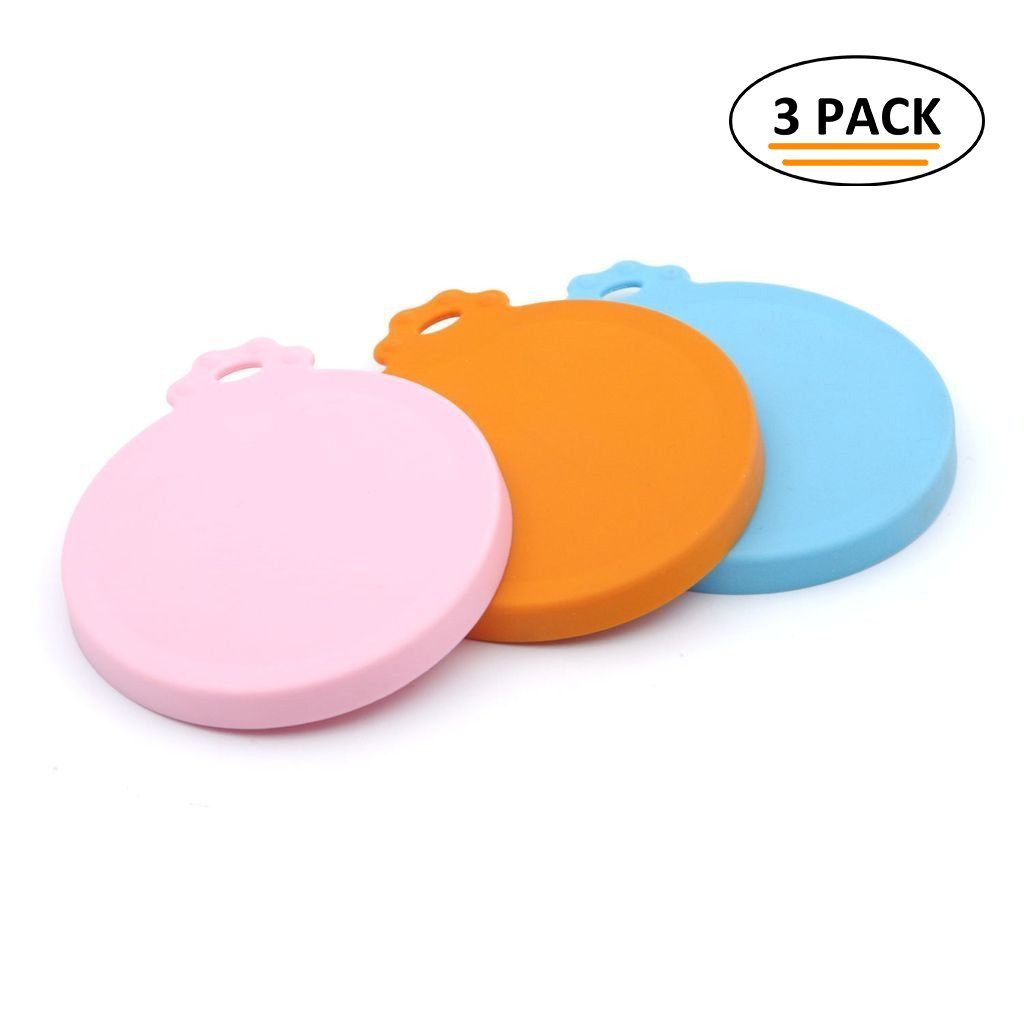 Super Design Silicone Can Cover for Multiple Sizes 1-Pack of 3