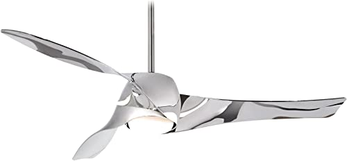 Minka-Aire F803L-LN, Artemis LED Liquid Nickel 58 Ceiling Fan with Light