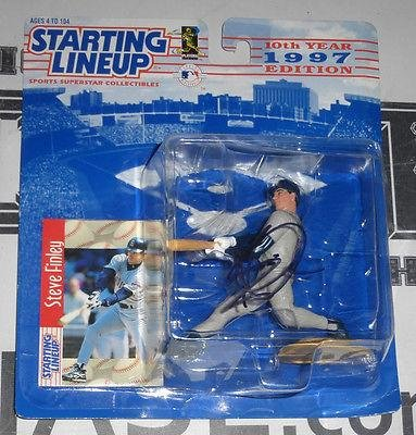 Steve Finley Signed Baseball - Padres Starting Lineup Action Figure COA 97 - PSA/DNA Certified - Autographed MLB Figurines