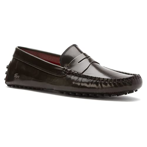 Lacoste Mens, Concours 15 Slip on Drivers Dark Grey ...