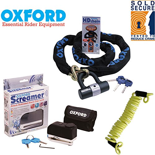Oxford HD Heavy Chain Lock 1.5m Motorcycle Scooter Padlock OF159 Sold Secure