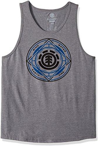 Element Men's Circuit Knit Tank, Grey Heather, - Top Cotton Tank Element