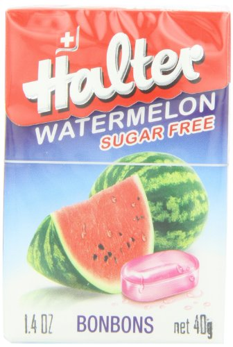 Halter Sugar Free Candy, Watermelon, 1.4-Ounce Boxes (Pack of 8)