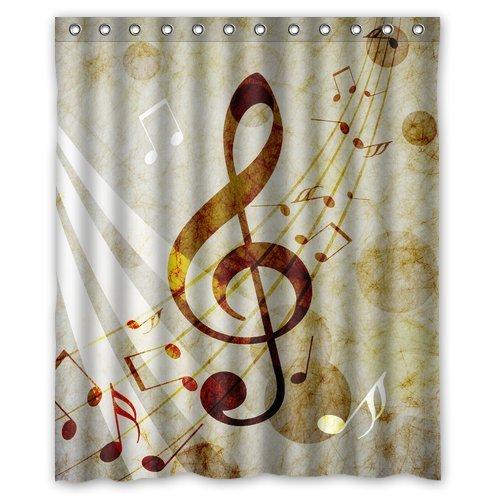 Personalized Lovely Melody Music Note Machine Washable Super Soft Shower  Curtain 60u0027(w)x72u0027(h)