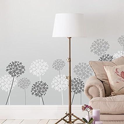 Allium Flor Decoración Plantilla Pared Hogar Decoración Arte Y ...