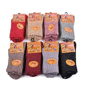 SDBING 5 Pairs Women's Super Thick Soft Comfortable Warm Crew Socks