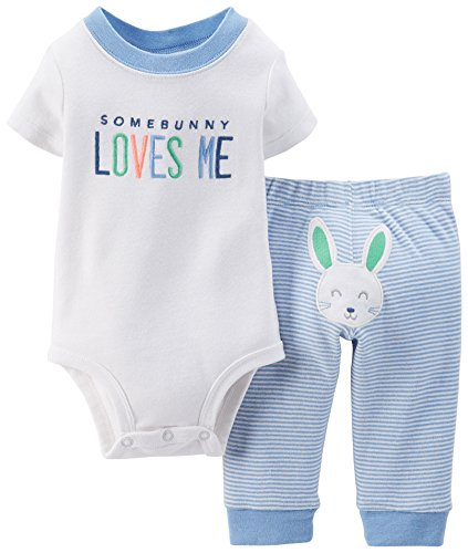 Carter's 2 Piece Boys Easter Outfit with Easter Bunny