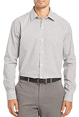 Van Heusen Men's Traveler Stretch Long Sleeve Button Down Blue/White/Purple Shirt