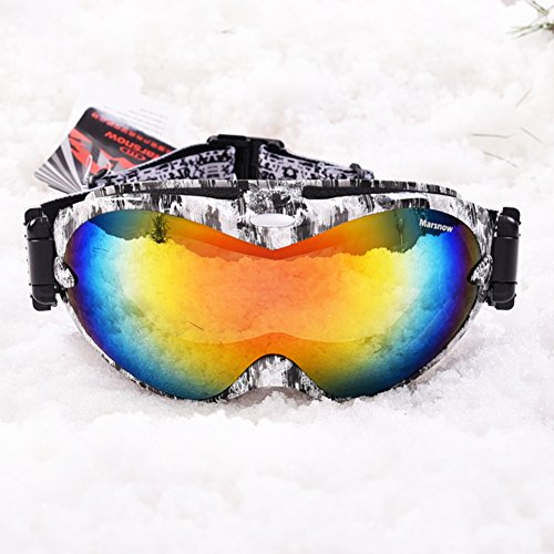 SE7VEN Snowboard Lunettes Skate,Outdoor circ. Des Lunettes De Protection Alpinisme Escalade Coupe-vent Anti-buée Lunettes Pour Les Sports D'hiver E