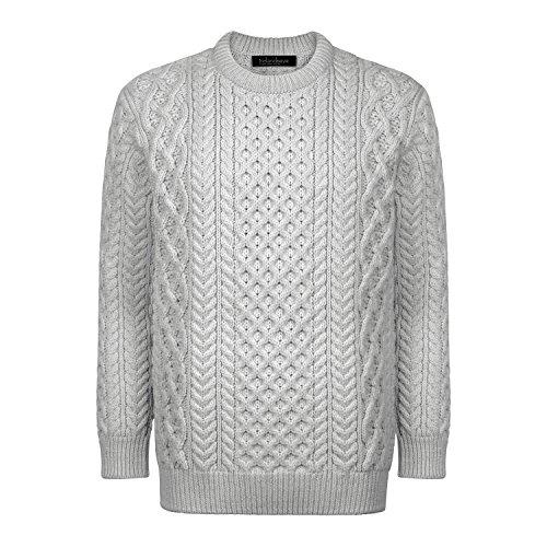 Donegal 100% Irish Merino Wool Blasket Unisex Aran Sweater by Ireland's Eye Knitwear by The Irish Store - Irish Gifts from Ireland