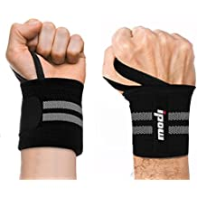 "Ipow 18.5""Professional Quality Wrist Straps Support Braces Wraps Belt Protector With 2.5""Thumb Loops for Powerlifting, Bodybuilding, Weight Lifting, Strength Training, One Size fits all Men& Women"