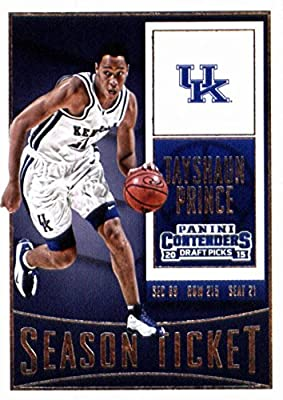 Tayshaun Prince basketball card (Kentucky Wildcats) 2015 Panini Draft Picks #88