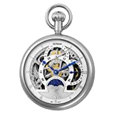 Gotham Men's Silver-Tone Mechanical Pocket Watch with Desktop Stand # GWC14046S-ST