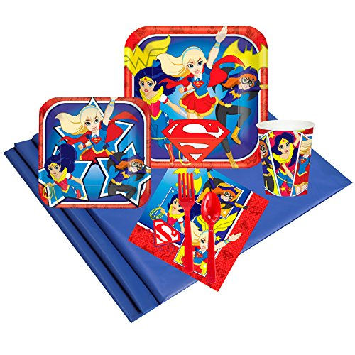 (DC Hero Girl Childrens Birthday Party Supplies - Tableware Party Pack)