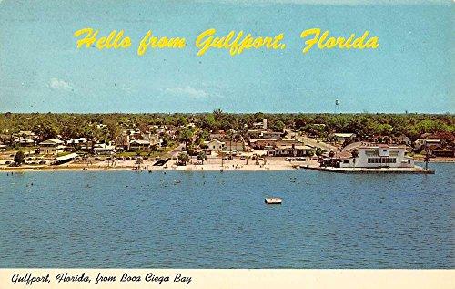 Bay Boca (Gulfport Florida Boca Ciega Bay Waterfront Vintage Postcard K86664)