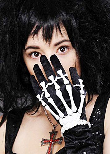 Halloween Gothic White Skeleton Hand Bracelet