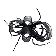 Song Qing Fascinator Feather Hair Hoop Bridal Sinamay Party Wedding Women Headband