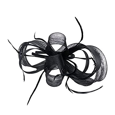 Song Qing Fascinator Feather Hair Hoop Bridal Sinamay Party Wedding Women Headband