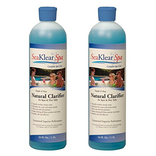 Sea Klear SKSBP-02 Natural Clarifier for Spas and Hot Tubs (2 Pack), 1 pint