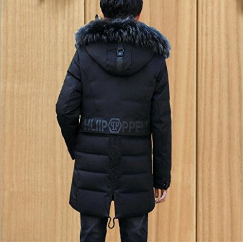 Down Section Men's LINYI Long Jacket Black Thickening qwfWZv1