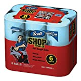 Scott Shop Towels On A Roll, 6-Roll Packs, (Pack of 4)
