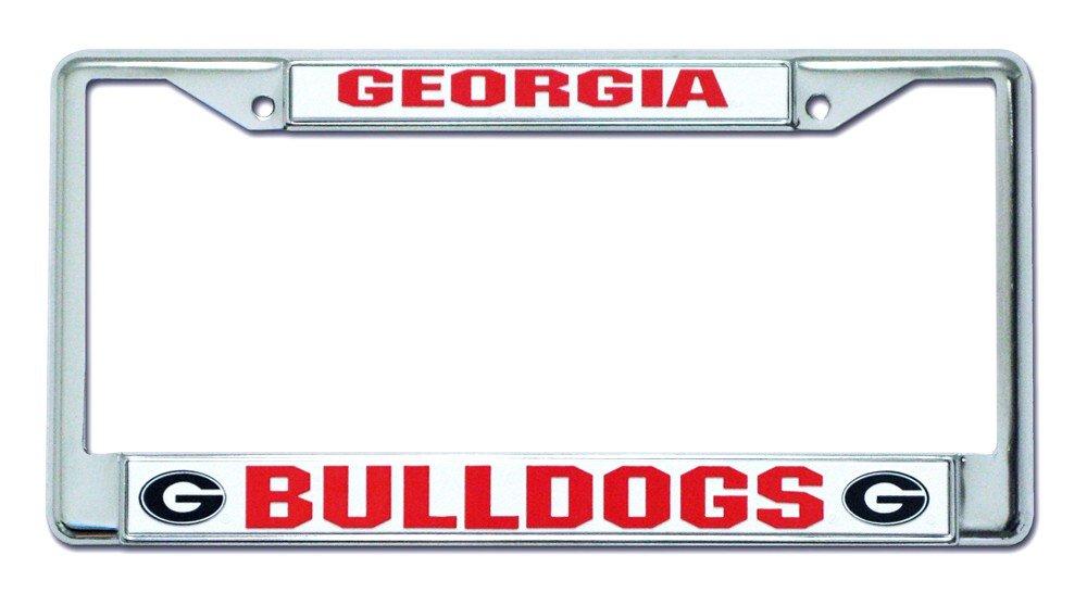 Hall of Fame Memorabilia Georgia Bulldogs Chrome License Plate Frame