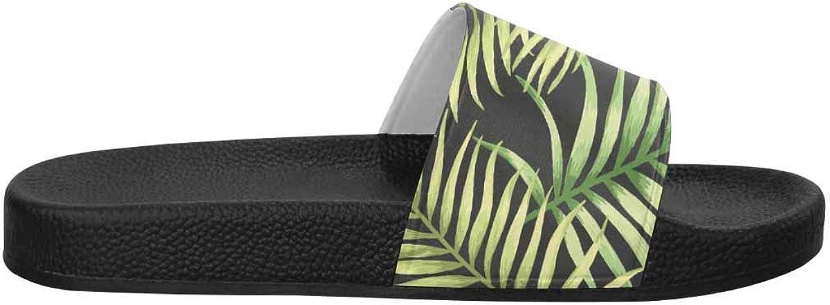 INTERESTPRINT Womens Open Toe Slide Sandals US6-US12