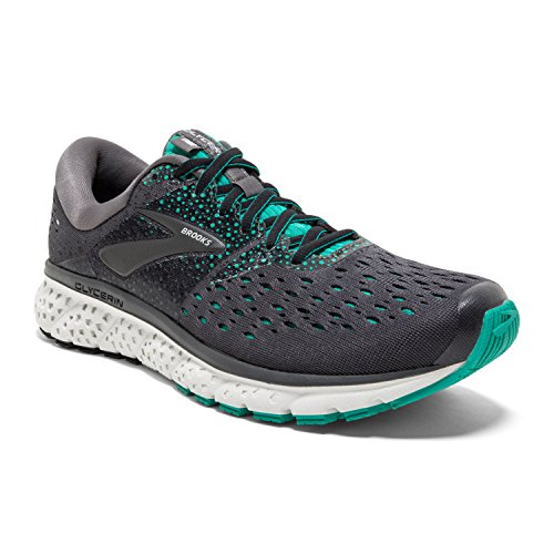 Brooks Women's Glycerin 16 Road Running Shoe - Ebony/Green/Black - B - 10.0