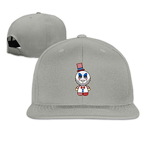 Captain Spaulding Hat (Cute Hello Riders Flat Snapback Hat Cap Men Women ( 8 Colors ) Ash)