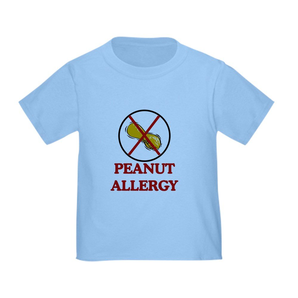 CafePress - NO PEANUTS Peanut Allergy - Cute Toddler T-Shirt, 100% Cotton