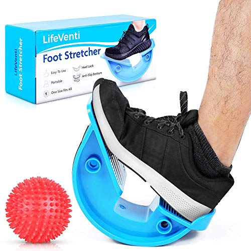 LifeVenti Foot Rocker and Spiky Ball - Foot and Calf Stretcher for Plantar Fasciitis, Achilles Tendonitis, Heel, Feet Pain Relief - Stretches Achilles Tendons and Legs for Improved Flexibility