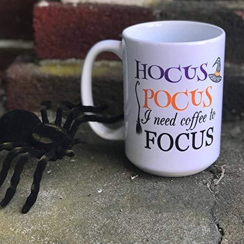 Hocus Pocus I need Coffee To Focus Mug,Coffee Mug, Autumn mug, Fall Mug, Hocus Pocus, Halloween Mug, Halloween Present, Gift for Her, Funny Mug