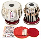 Vijay Vhatkar Tabla, Special Concert, 4KG Chromed Copper Bayan, Finest Sheesham Dayan, Tabla Drums, Book, Hammer, Cushions, Cover, Tabla Instrument Indian (PDI-BBD)