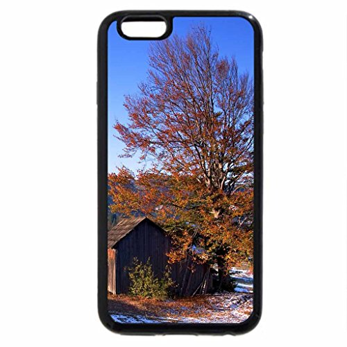 iPhone 6S Case, iPhone 6 Case (Black & White) - cabin on a hill in rumania
