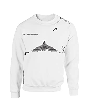 allntrends crewneck sweatshirt rihanna tattoos at amazon women s Women's Sleeve Tattoos allntrends crewneck sweatshirt rihanna tattoos s white