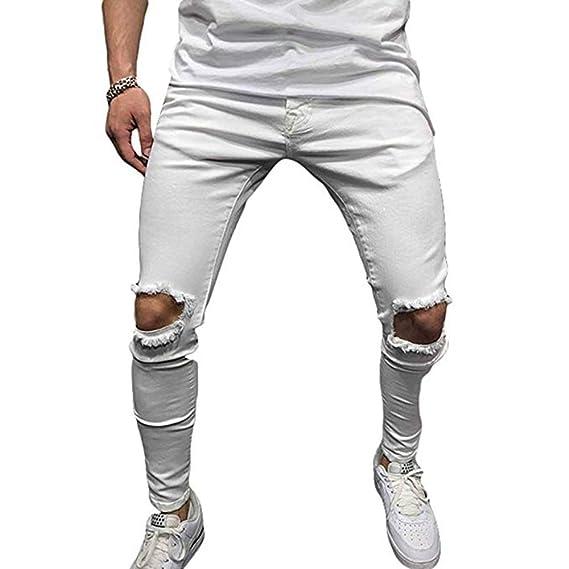 Pantalones para Hombres Pantalones elásticos Ajustados Pantalones ...