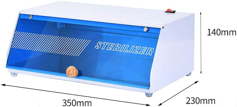 Gabinete de esterilizador UV, Caja de esterilización Máquina desinfectadora de mascarillas, color azul, Dispositivo de desinfección por luz ultravioleta