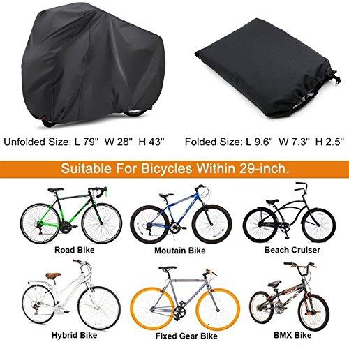 Koson-Man White Waterproof Dustproof Bicycle Cover