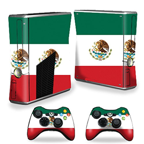 Mightyskins Protective Vinyl Skin Decal Cover for Microsoft Xbox 360 S Slim + 2 Controller skins wrap sticker skins Mexican Flag