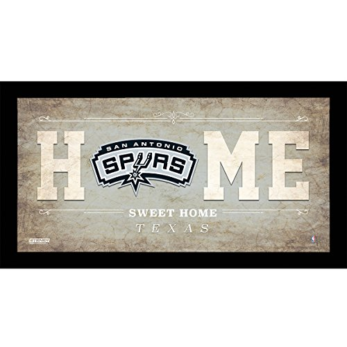 "NBA San Antonio Spurs Home Sweet Home Sign, 10 x 20"", Silver"