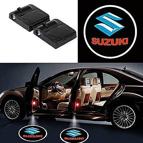 luci di benvenuto con logo laser per tutte le auto 2 proiettori LED universali senza fili per auto