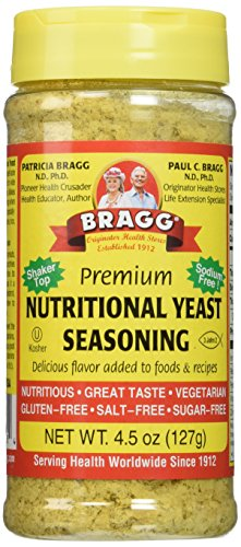 Bragg Nutritional Yeast Seasoning, Premium, 4.5 Ounce (2 Count) by Bragg