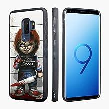 Scary Chucky Cartoon Printed Hybrid Silicone Bumper Back Protective Case Cover for Samsung Galaxy S9